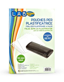 Set 100 pouches per plastificatrice