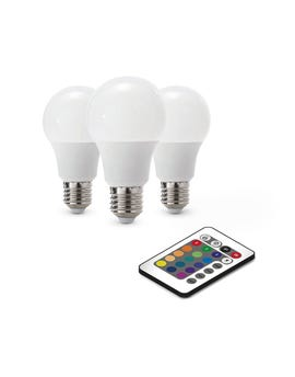 Kit 3 Lampadine Led Luce Bianca + Luce Multicolore Rgb multicolor