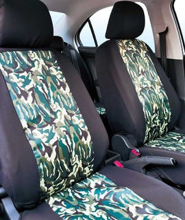 "Set coprisedili camouflage ""Keiros on the road"" poliestere"