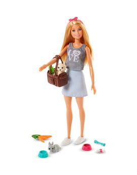 Barbie con animali multicolor