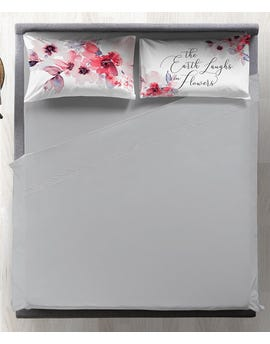 Completo letto matrimoniale digitale 100% cotone Watercolor Floral