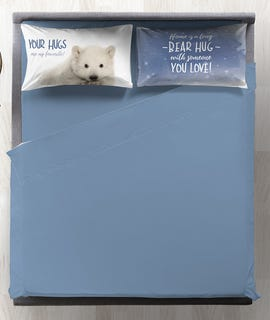 Completo letto matrimoniale digitale 100% cotone Polar Bear