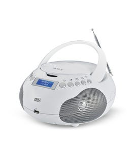 "Lettore CD audio e MP3 portatile ""Majestic"" bianco"
