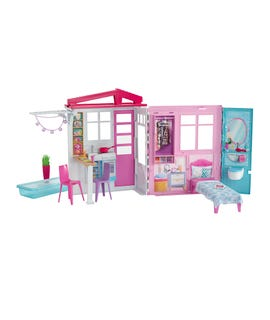 Casetta di Barbie portatile con piscina e accessori multicolor